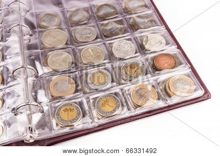 Coin album with coins