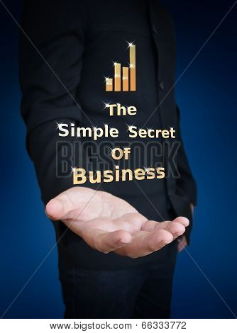 Secrets Of Business Word In Hand
