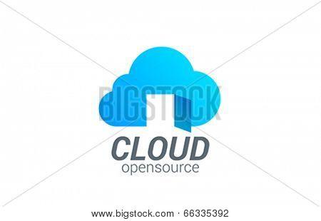 Cloud computing vector logo design template. Free Access Data creative concept icon.