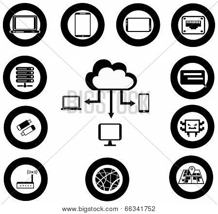Various It And Network Media Icon And App Collection Set 1