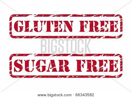 Gluten Free And Sugar Free Rubber Stamps