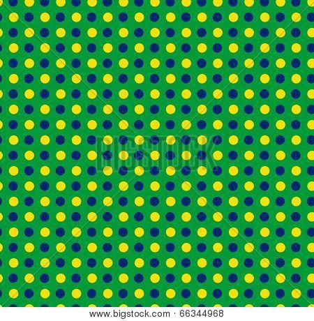 Brazil 2014 Seamless Green Yellow Blue Background
