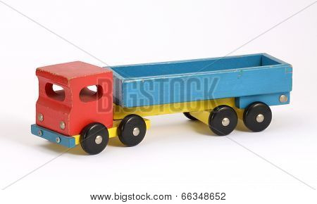 Retro Wooden Toy Truck