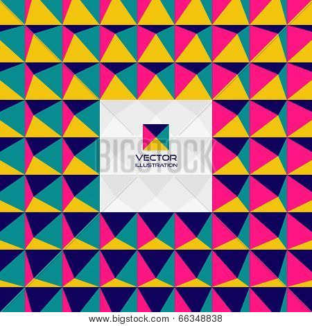 Abstract 3d geometric background. With place for text. Can be used for wallpaper, web banner or design element.