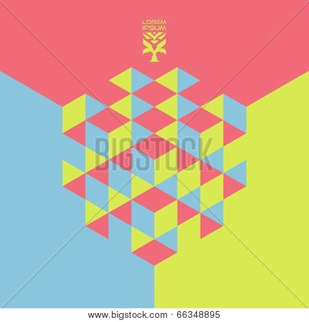 Abstract geometrical 3d background. Vector illustration. Can be used for wallpaper, web banner, business presentation.