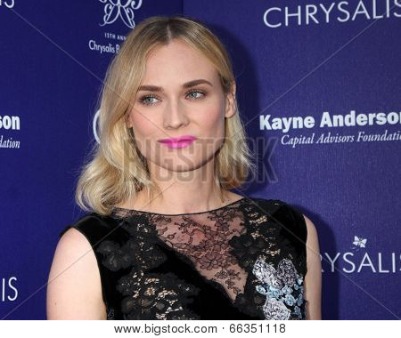 LOS ANGELES - JUN 7:  Diane Kruger at the 13th Annual Chrysalis Butterfly Ball at Private Mandeville Canyon Estate on June 7, 2014 in Los Angeles, CA
