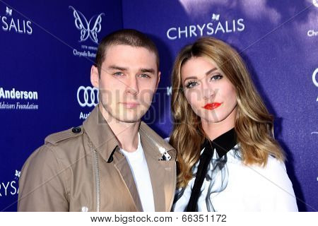 LOS ANGELES - JUN 7:  Nick Noonan_Amy Renee Heidemann, Karmin at the 13th Annual Chrysalis Butterfly Ball at Private Mandeville Canyon Estate on June 7, 2014 in Los Angeles, CA