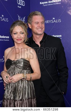 LOS ANGELES - JUN 7:  Rebecca Gayheart-Dane, Eric Dane at the 13th Annual Chrysalis Butterfly Ball at Private Mandeville Canyon Estate on June 7, 2014 in Los Angeles, CA