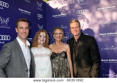 LOS ANGELES - JUN 7:  James VanDerBeek, Kimberly Brook, Rebecca Gayheart, Eric Dane at the 13th Annual Chrysalis Butterfly Ball at Private Mandeville Canyon Estate on June 7, 2014 in Los Angeles, CA