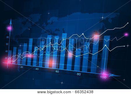 Business Stock Finance Diagram