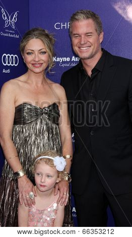 LOS ANGELES - JUN 7:  Rebecca Gayheart-Dane, Billie Beatrice Dane, Eric Dane at the 13th Annual Chrysalis Butterfly Ball at Private Mandeville Canyon Estate on June 7, 2014 in Los Angeles, CA