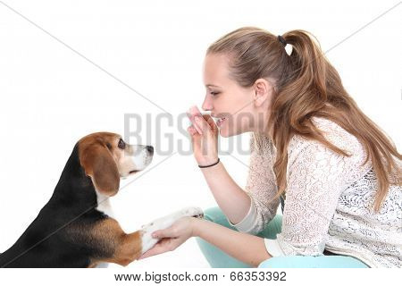 dog obedience training trainer with pet.