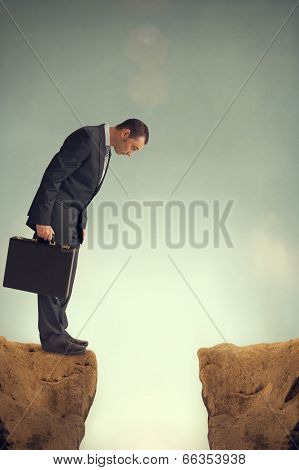 Businessman On The Edge