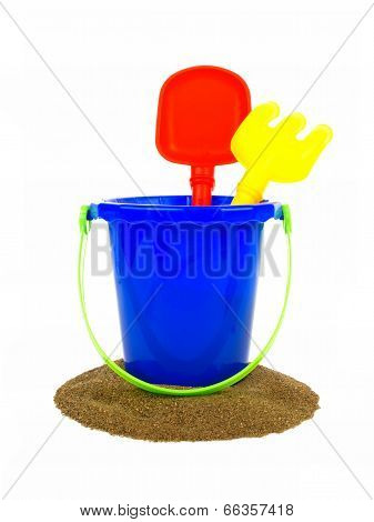 Beach pail with sand