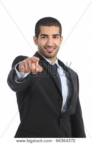 Arab Business Man Pointing You At Camera