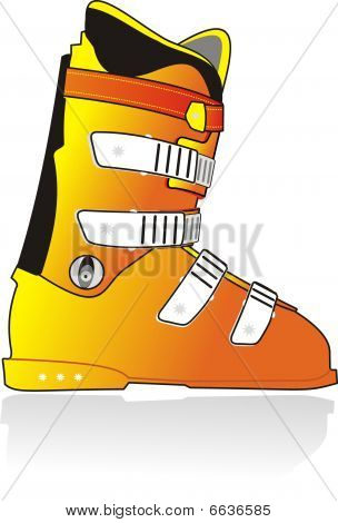 Ski sports color boot