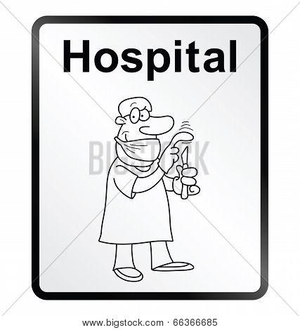 Hospital Information Sign