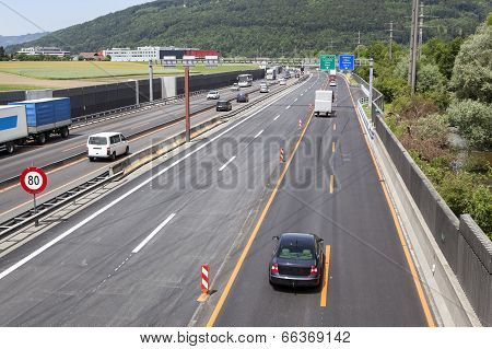 Swiss Highway, Construction Site