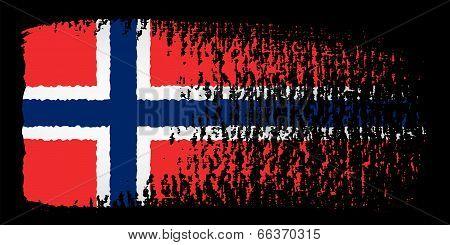 Brushstroke Flag Norway