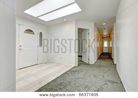 Bright Entrance Hallway With Skylight