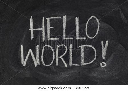 Hello, World! - Message From The First Computer Program