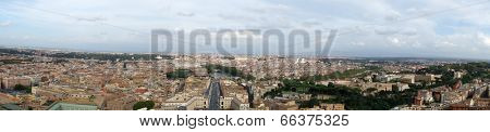 Panorama view of Rome, Italy
