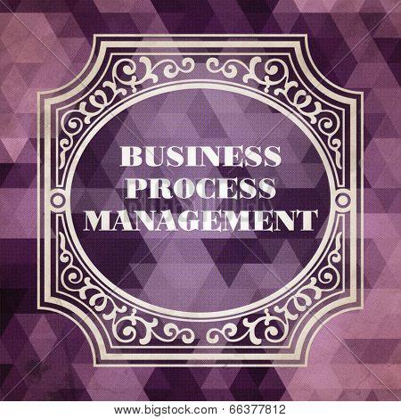 Vintage Business Process Management Concept.