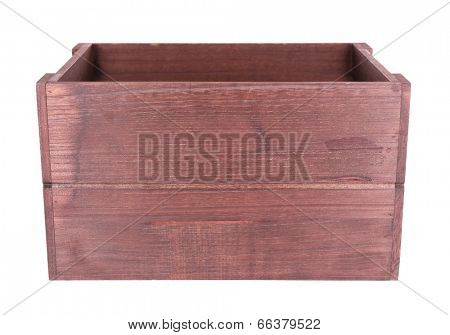 Brown crate isolated on white