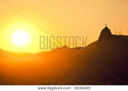 Sunset Views Of Jesus And Corcovado From Sugar Loaf Mountain