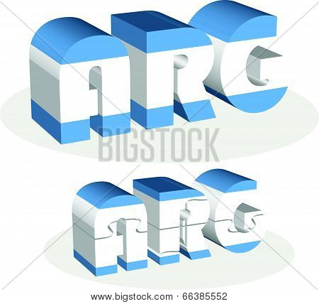 Argentinian Flag in puzzle isolated on white background