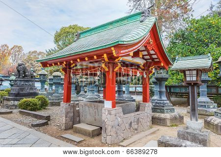 Belfry of Toshogu Shrine at Ueno Park in Tokyo
