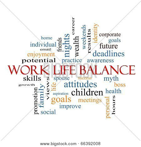 Work Life Balance Word Cloud Concept