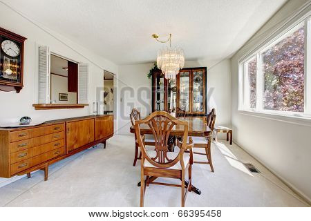Bright Dining Room In Old House
