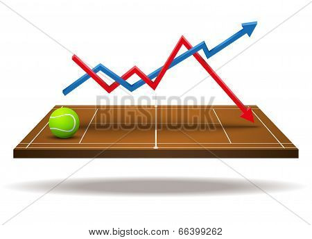 Concept of statistics about tennis