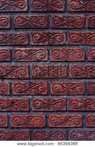 Patterned Brick Walls And Varnish