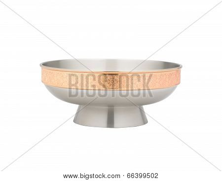 luxury pewter salad bowl