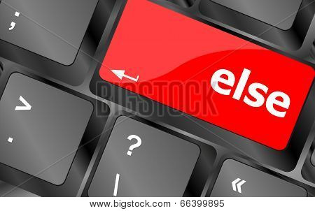 Else Button On Computer Pc Keyboard Key
