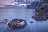 picture of crimea  - Black sea landscape in Crimea - JPG