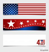 stock photo of democracy  - Happy independence day card United States of America - JPG