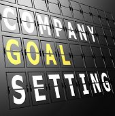 foto of goal setting  - Airport display company goal setting image with hi - JPG