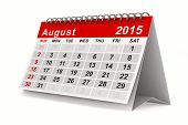 picture of august calendar  - 2015 year calendar - JPG
