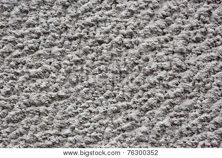 Gray Plaster As A Texture
