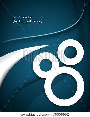 eps10 vector elegant three frame rings with bent lines concept business background