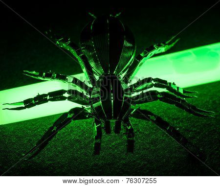 A conceptual image of toxic and radioactive spider