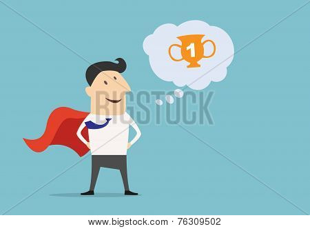 Cartoon businessman Super Hero character