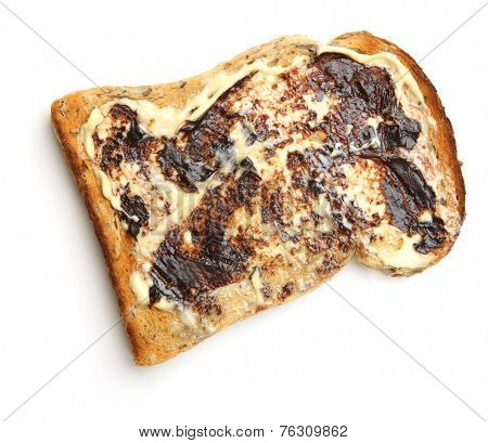 Buttered toast with yeast extract spread.