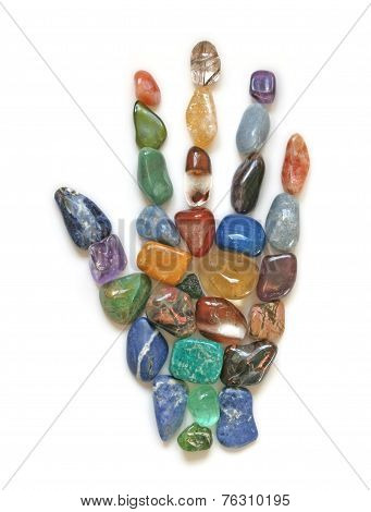 Symbolic Crystal Healing Hand