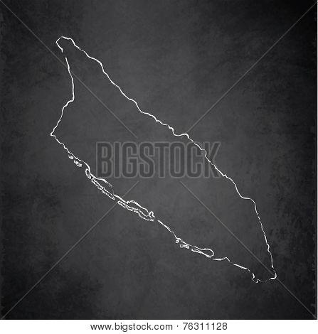 Aruba map blackboard chalkboard raster