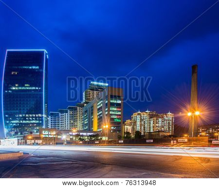 Baku - MAY 27, 2014: Port Baku on May 27 in Azerbaijan, Baku. Port Baku is new office development in Baku