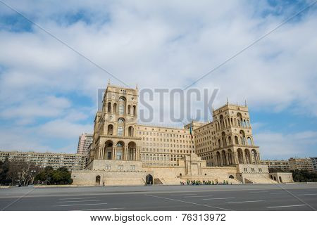 Baku - MARCH 1, 2014: Government House on march 1 in Azerbaijan, Baku. Government House is a gothic-style building in Baku